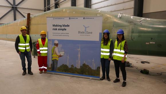 BladeSave project partners implementing the full-scale testing at Blaest, Denmark