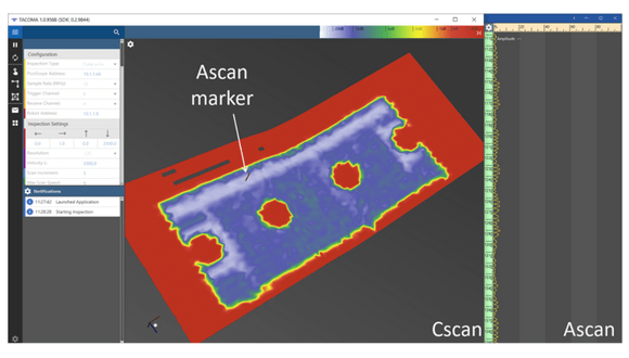 Figure 2. C-scan results of CFRP part with delamination defect
