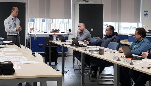 TWI's Alex Tsougranis delivering the PAUT blended learning course in Cambridge.